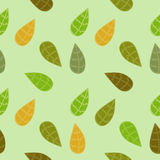 Background with Colored Leaves. Seamless texture Stock Images