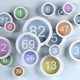 Background colored lens with numbers. 3d illustration Royalty Free Stock Images