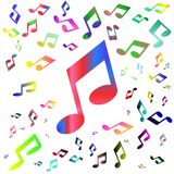 Background of colored notes Royalty Free Stock Image