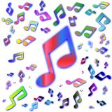 Background of colored notes Royalty Free Stock Photo