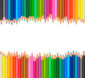 Background with colored pencils. Royalty Free Stock Photo