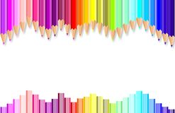 Background of colored pencils Stock Image