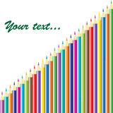 Background with colored pencils. Vector Royalty Free Stock Image