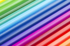 Background of colored pencils Royalty Free Stock Photos