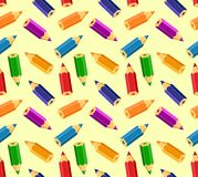 Background with colored pencils. Stock Images