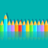 Background with colored pencils Royalty Free Stock Photography