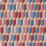 Background with colored pencils. Vector seamless pattern Royalty Free Stock Image