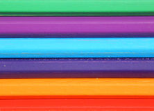 Background of colored pencils, which lie horizontally Royalty Free Stock Photography