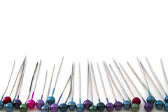 Background of colored pins  Royalty Free Stock Photo