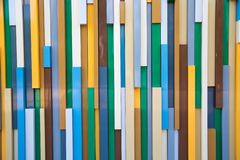 Background of colored plastic rectangles arranged vertically stock photos