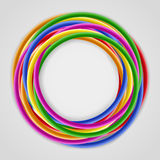 Background with colored plastic wires Stock Photos