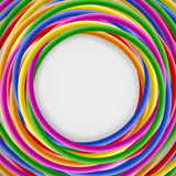 Background with colored plastic wires Royalty Free Stock Photography