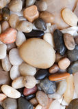 Colored round sea pebbles Stock Images