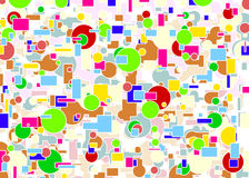 Background by colored shapes Stock Photography
