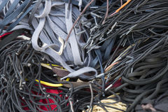 Background of colored shoe laces Stock Image