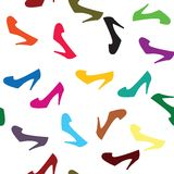 Background with colored shoes Stock Image