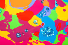 Background of colored spots of nail polish Royalty Free Stock Image