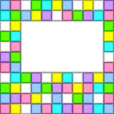 Background of colored squares. Royalty Free Stock Photo