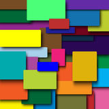 The background of colored squares. Lie on the background of colored squares. squares with a shadow royalty free illustration