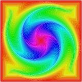 Background of colored squares in the form of a spiral. vector illustration