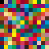 Background of colored squares. Many colored squares putted together Stock Illustration