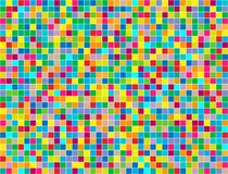 Background of colored squares painted in random order. royalty free illustration