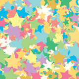 Background of colored stars. Can be used as wallpaper, textiles. Stock Photography