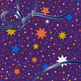 Background colored stars Stock Images