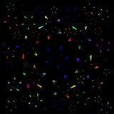 Background of colored stars from symbols. Suitable for postcards, paper and fabric stock illustration