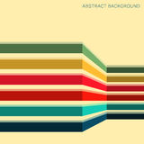 Background with colored stripes. Abstract geometric pattern. Vector illustration Stock Photos