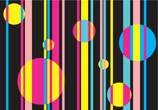 Background - colored stripes and circles. Seamless structure - colored stripes and circles royalty free illustration