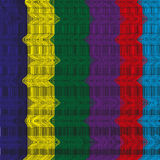 Background of colored thread. Image fishnet bright filaments slightly twisted on a black background Stock Images