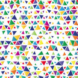 Background with colored triangles. Illustration of colorful background with small colored triangles Stock Photo