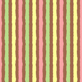 Background with colored vertical stripes. Seamless pattern painted rough brush. Yellow, green, pink, brown. Vector illustration Royalty Free Stock Photos