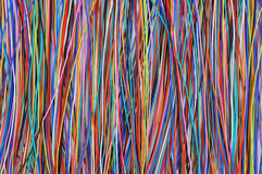 Background of colored wires Royalty Free Stock Image