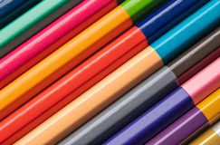 Background of colored wood pencils for children`s creativity. close-up royalty free stock photos