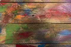 Background of colored wood Royalty Free Stock Photos