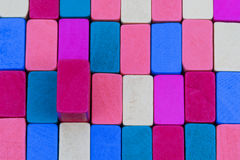 Background from colored wooden blocks Stock Image