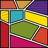 Background colorful abstract in pop art with lines Royalty Free Stock Images