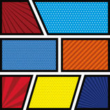 Background colorful abstract in pop art variety figures Stock Images