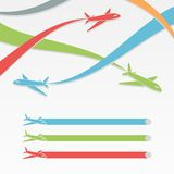 Background with colorful airplanes. Stock Image
