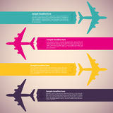 Background with colorful airplanes Royalty Free Stock Images