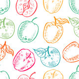 Background of colorful apples Stock Images