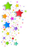 Background of colorful applique stars Stock Image