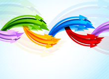 Background with colorful arrow Royalty Free Stock Photography
