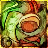 Abstract artwork , painting,colorful, art, decoration. Work of abstract art painting made by me , can be used as background or print and frame stock illustration