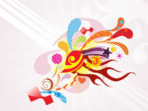 Background with colorful artwork Royalty Free Stock Photos