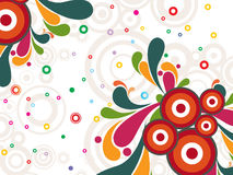 Background with colorful artwork, illustration Royalty Free Stock Image