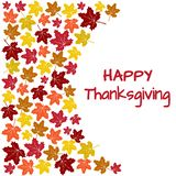 Background with colorful autumn maple leaves for Thanksgiving Day. Vector vector illustration
