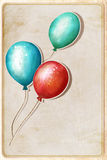 Background with colorful balloons Stock Photos